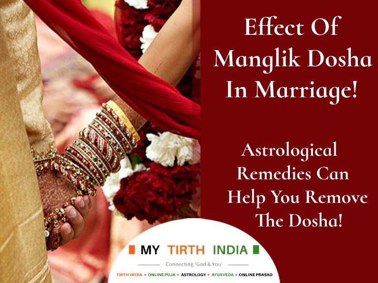 Effect Of Manglik Dosha In Marriage
